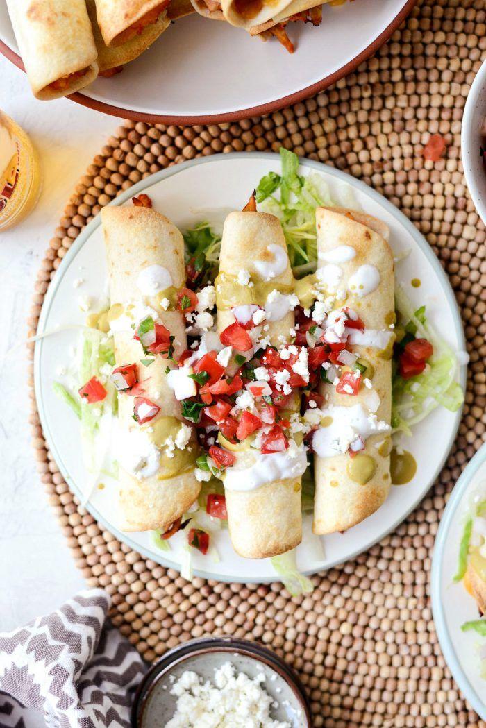 Air Fryer Salsa Chicken Taquitos Chicken taquitos