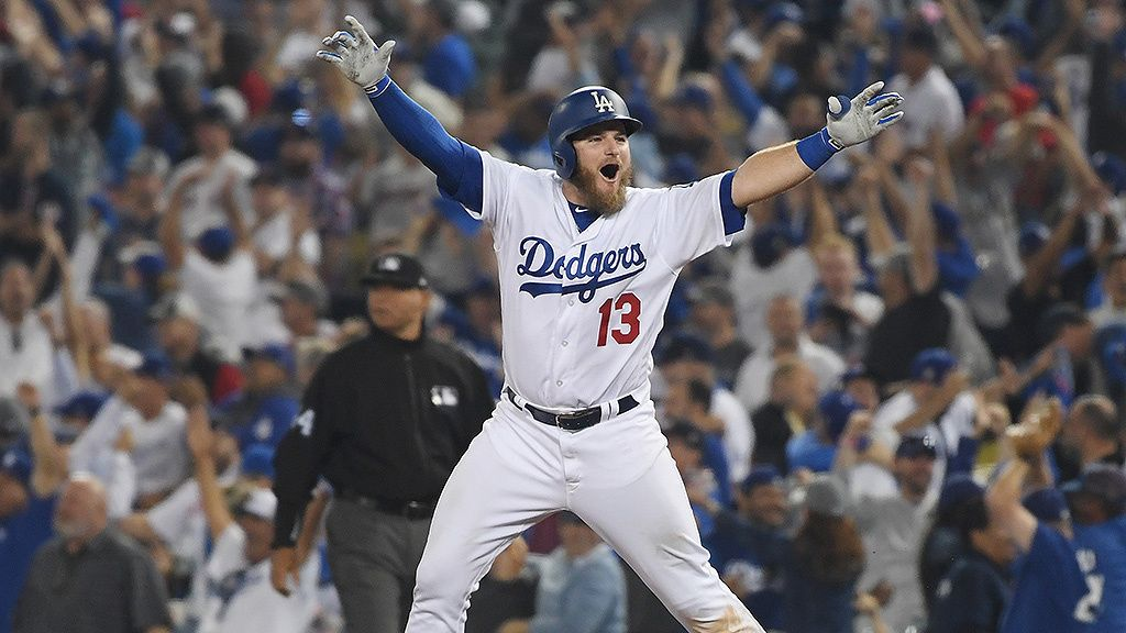 Max Muncy Hits Walk Off Homer In 18th Inning Dodgers Beat Red Sox In Longest World Series Game Ever Dodgers Dodgers Girl Baseball Guys
