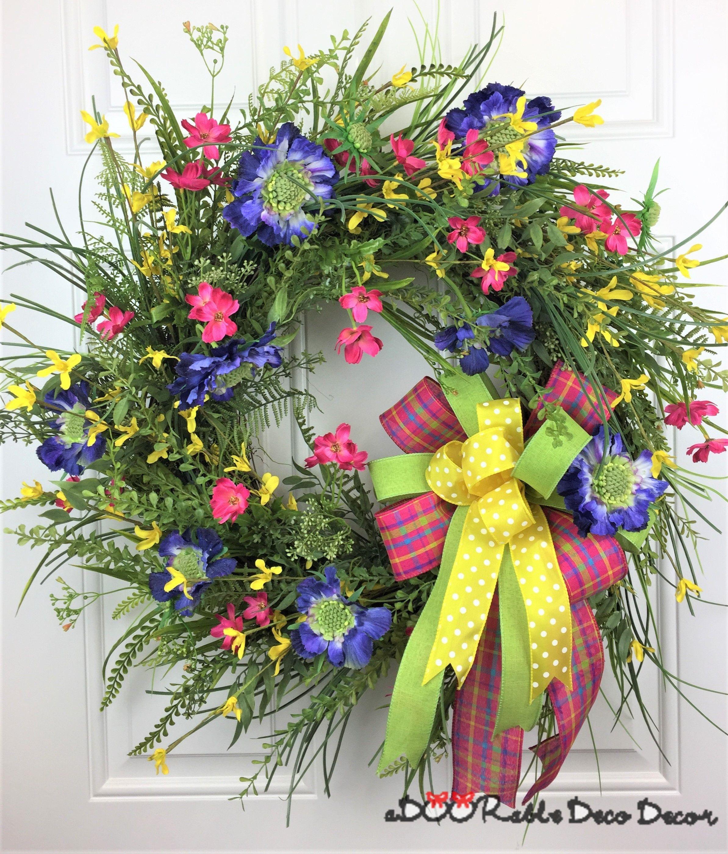 Wild flower wreath spring floral wreath spring flower wreath wild flower wreath spring floral wreath spring flower wreath large floral wreath best spring wreath spring front door wreath mightylinksfo