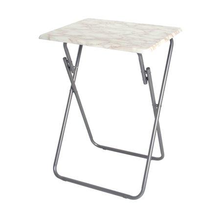Marvelous Storage Solutions 19 Inch Grey Marble Veneer Folding Snack Lamtechconsult Wood Chair Design Ideas Lamtechconsultcom