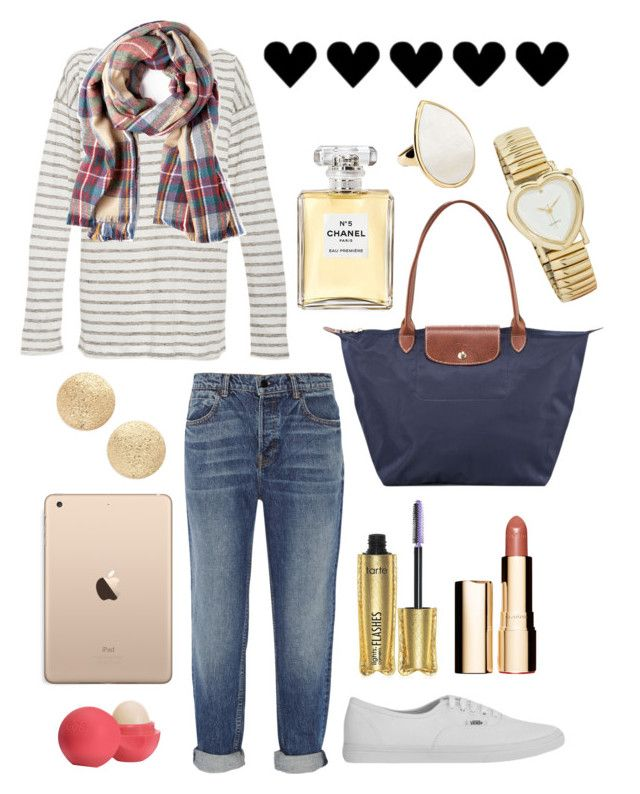 """""""Untitled #545"""" by earth-mother on Polyvore featuring Alexander Wang, ATM by Anthony Thomas Melillo, Sole Society, Vans, Nordstrom, Eos, Longchamp, Clarins, tarte and Chanel"""