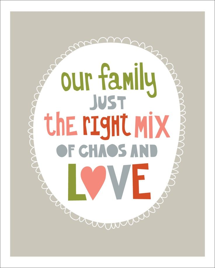 Love My Family Quotes Custom Skoots And Cuddles My Chaotic Family & A Free Printable  Family
