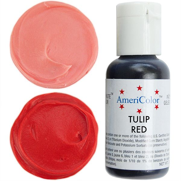 Bright red gel paste food coloring with superior coloring strength ...