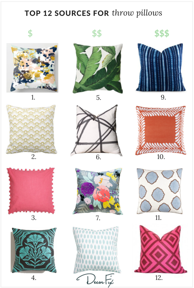 Inexpensive Decorative Couch Pillows: My Top 12 Sources for Great Throw Pillows (Decor Fix)   Throw    ,