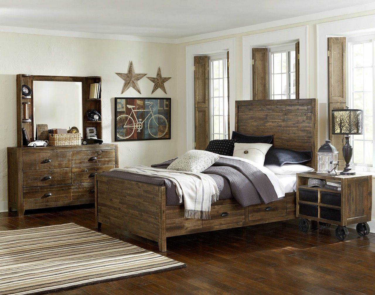 Magnussen Furniture Braxton Panel Bedroom Set With Storage Rails Extraordinary Twin Bedroom Sets Decorating Inspiration