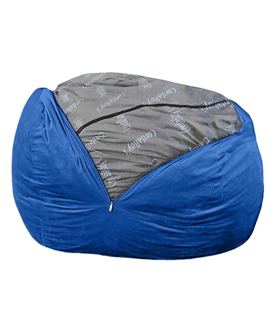 Look what I found on #zulily! Royal Blue Terry Cord Beanbag Chair Sleeper by CordaRoy's #zulilyfinds