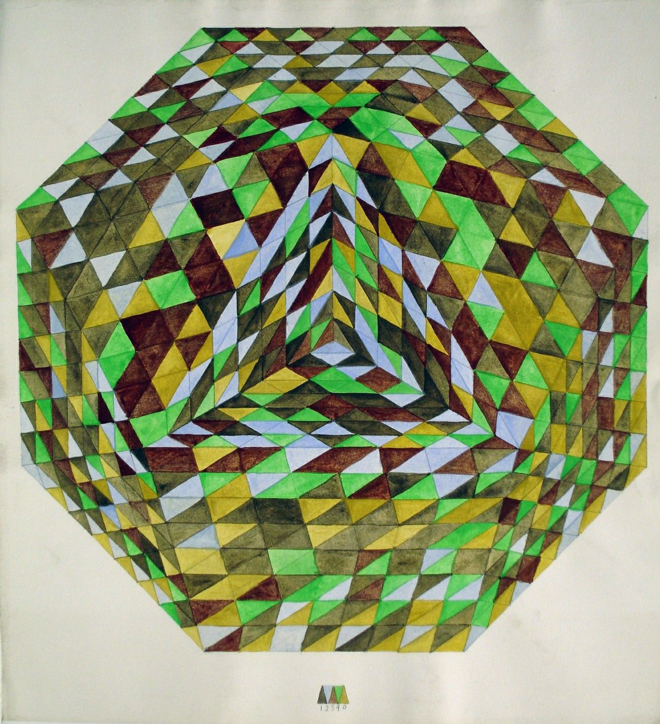 Color by Numbers Triangle to Octagon, Base 5, 18\