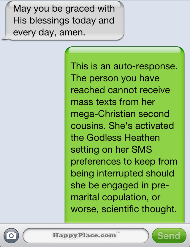 Funny auto reply