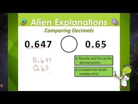 Comparing Decimals - 5th Grade - Education Galaxy - YouTube