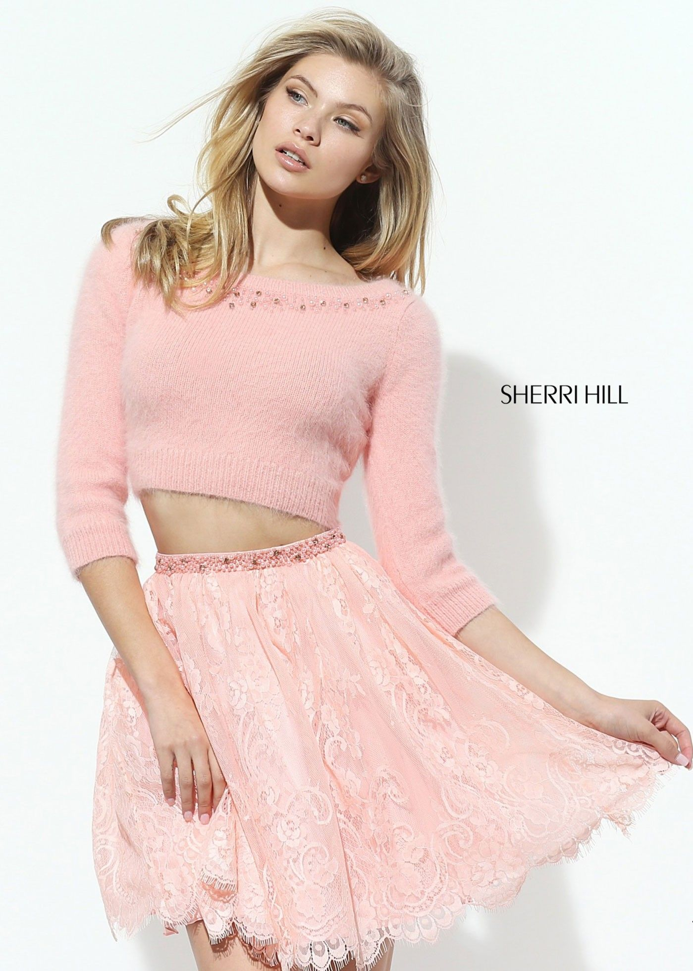 Sherri Hill 50549 Two Piece Sweater Dress | Sherri Hill Dresses ...