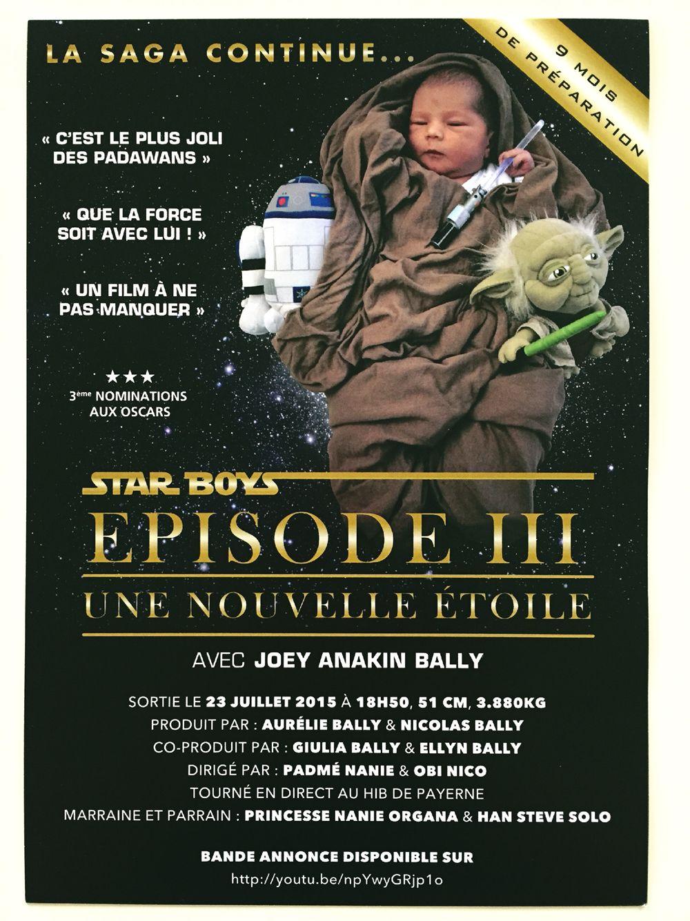 Faire-part de naissance thème Star Wars   faire part naissance ... 9311121ab18