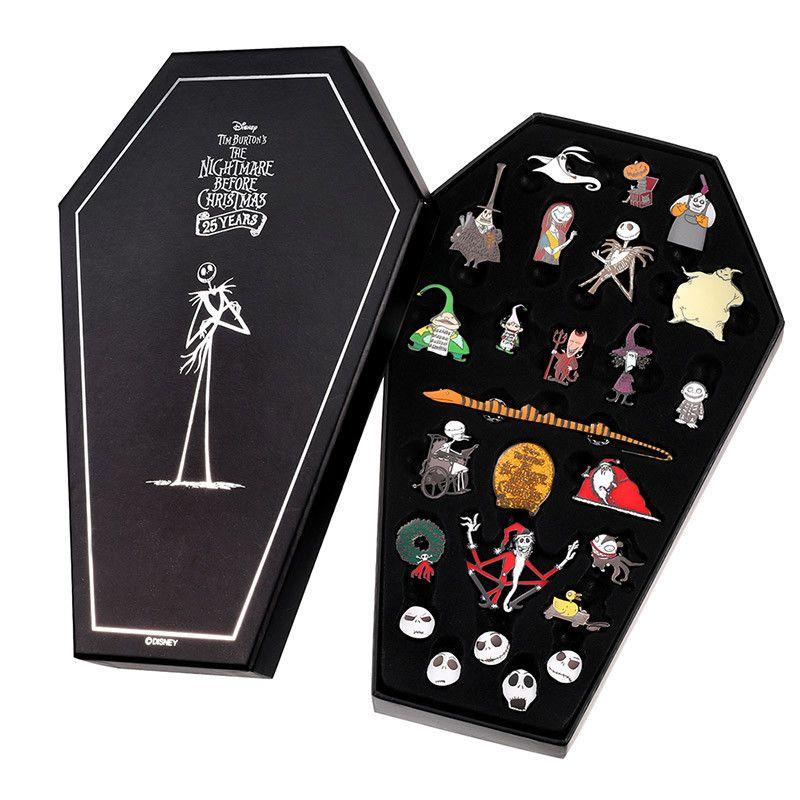 Disney Store Japan Pin Nightmare Before Christmas 25th Anniversary Pins Box Set