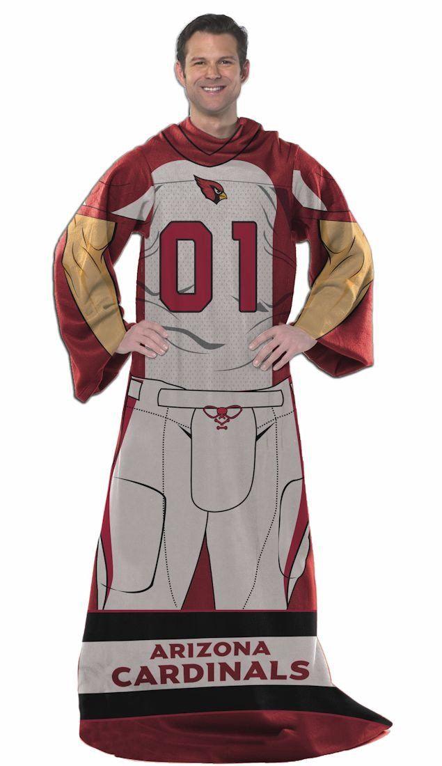 a06f2e5de175 Arizona Cardinals Comfy Throw Blanket With Sleeves - Player Design ...