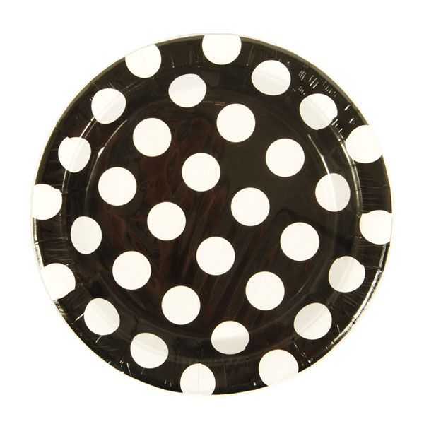 9 Black/White Dots Plate/Case of 288 Tags Dinner Plates; Paper  sc 1 st  Pinterest & 9 Black/White Dots Plate/Case of 288 Tags: Dinner Plates; Paper ...