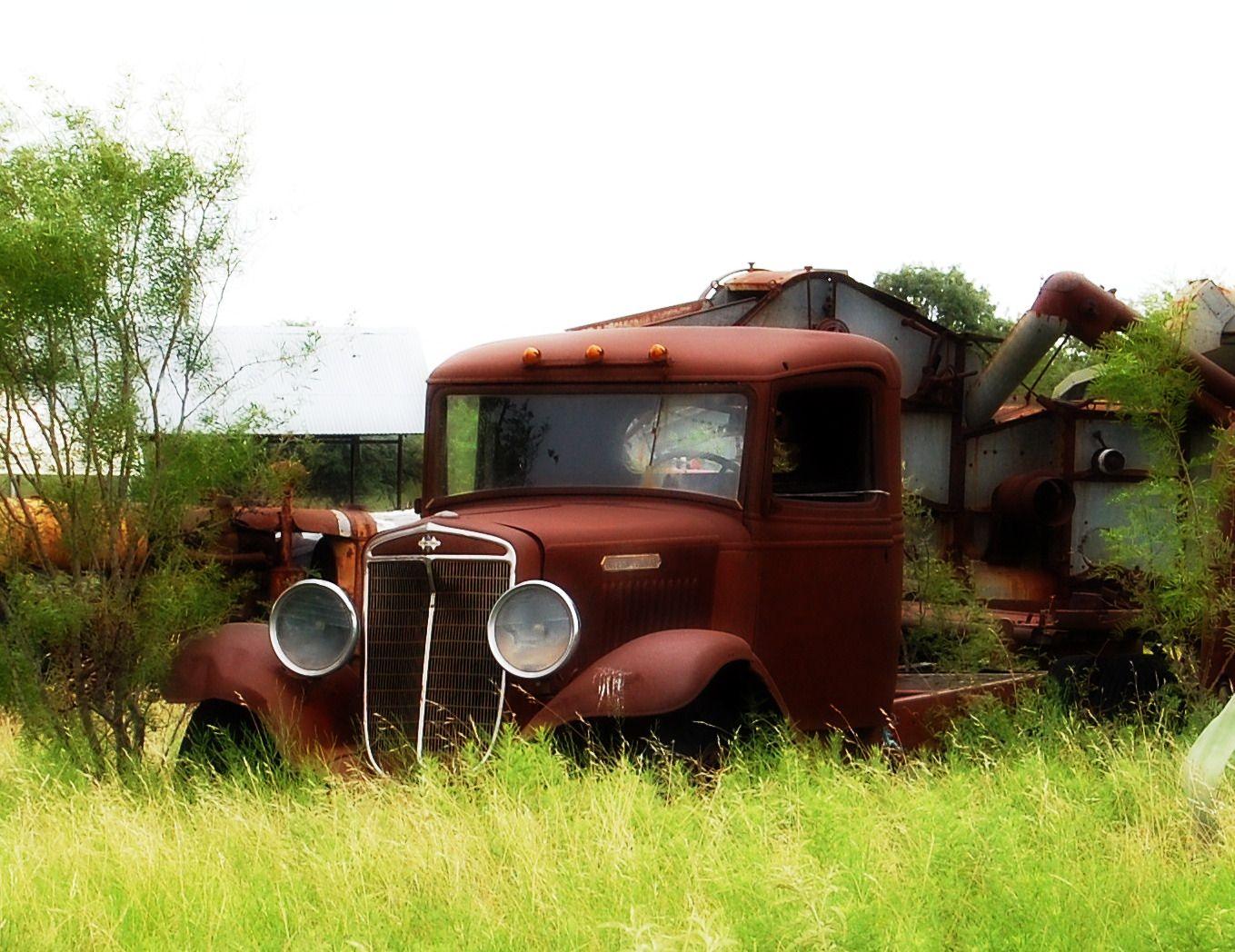 Old car in field by Stacy\'s Art | Cool junk | Pinterest | Fields ...