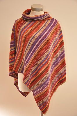 e17f57bdaf937 Big Buddha Womens Cowl Neck Striped Multicolor Knit Poncho Shawl : I got  this today, and I'm going to whistle the theme to The Good, The Bad, ...