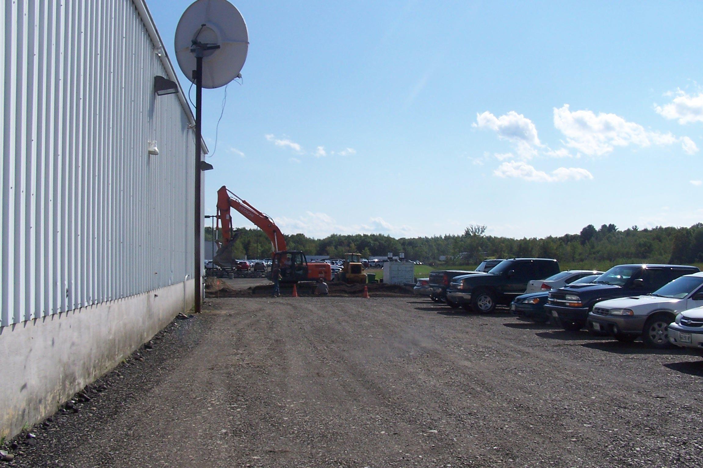 View from CentralMaine Motors Service Department
