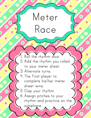 Centers: Meter Race   Elementary Music Resources