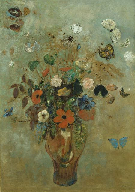 "Odilon Redon, ""Still Life with Flowers"", 1905, the Art Institute of Chicago"