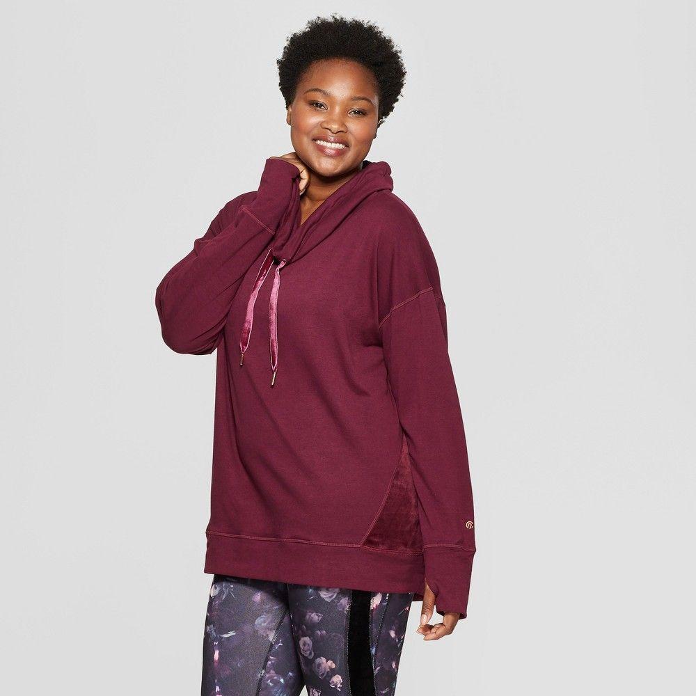 82647914 Women's Plus Size Cozy Fleece Pullover - C9 Champion Dark Berry Purple 4X