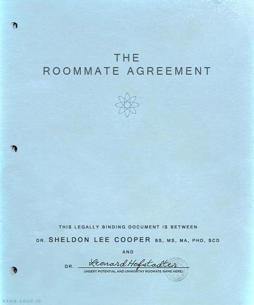 The Roommate Agreement. | Posters, Ilustraciones, Imágenes