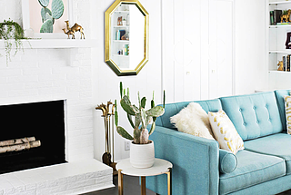 If the living room is the room where you do the max amount of living (whether to you that means a party of 10 or binge watching Netflix for 10 hours), it's important to make this room feel like a refl