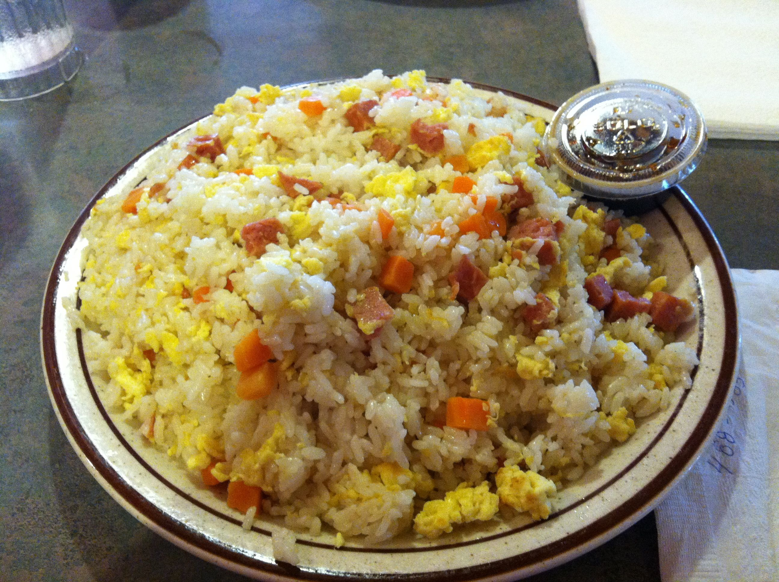 Spam Fried Rice at Shirley's restaurant in GUAM | Guam ...