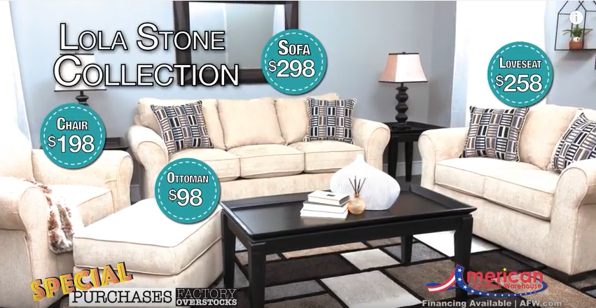 American Furniture Warehouse has some incredible Special Purchases. You won't believe the savings! To see our current ad, click here: goo.gl/tRUOhy