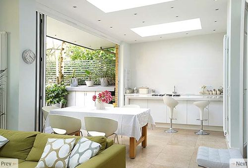 Love the pure white combined with nature's accents.