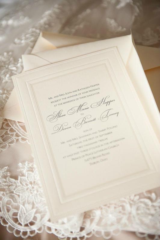 Simple Elegant Wedding Invites Photos Novia Distinctive