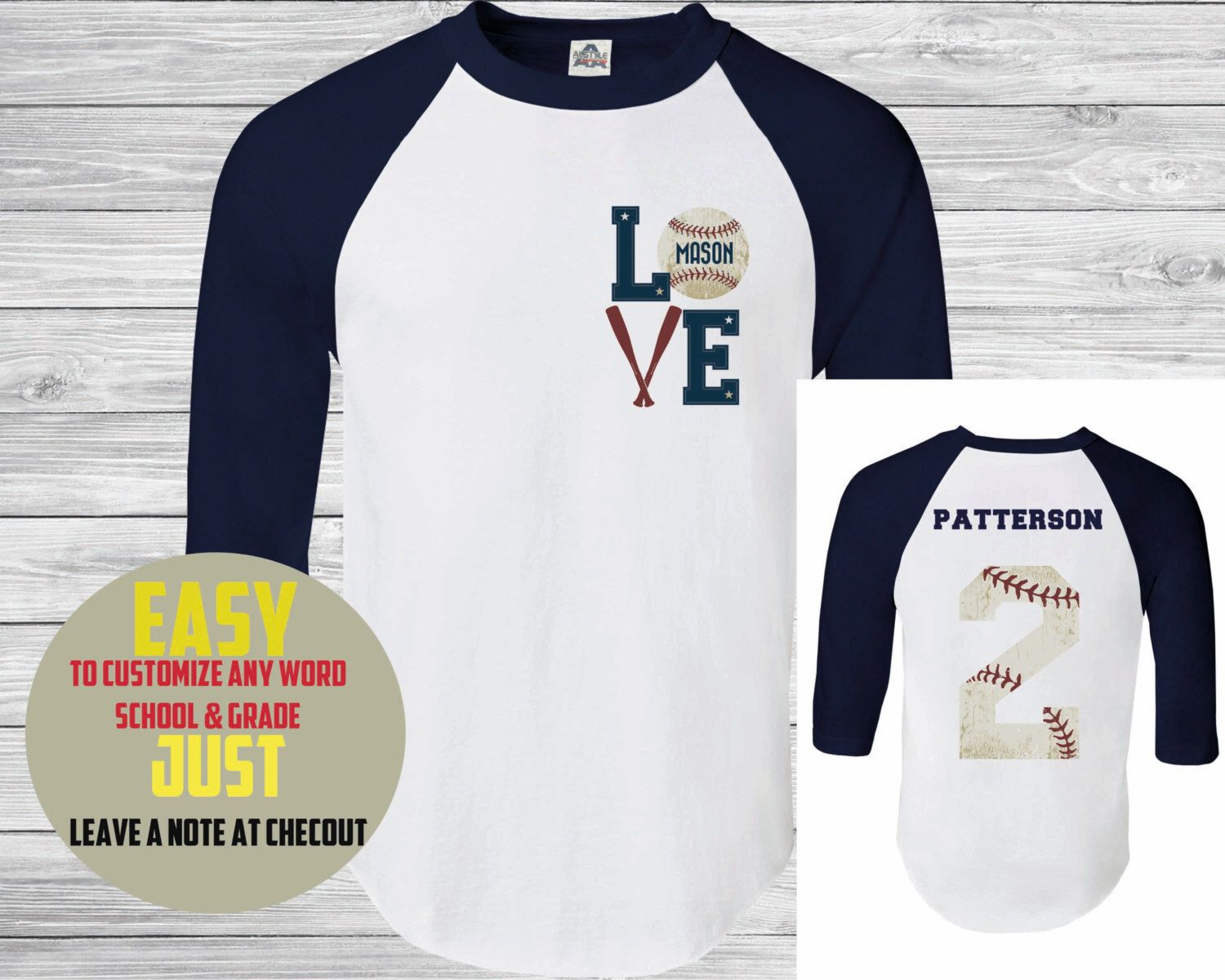 Baseball Teecustom Name And Number  Womens Baseball TShirt - Custom vinyl decals numbers for shirts