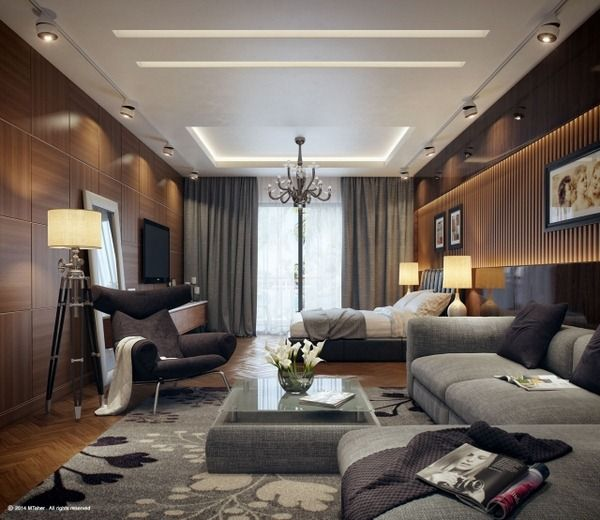 Indirect Lighting Ideas For Luxury Open Plan Bedroom And Living