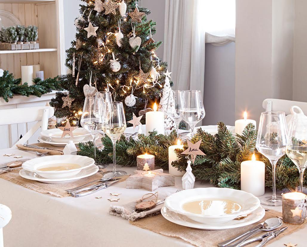 Elegante cl sica de tendencia y creativa descubre c mo - Como adornar una mesa de navidad ...