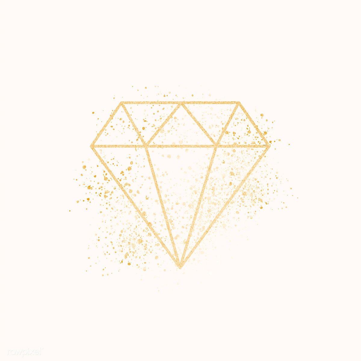 Download Premium Vector Of Shimmering Golden Geometric Diamond Vector Diamond Vector Geometric Diamond Geometric Diamond Pattern