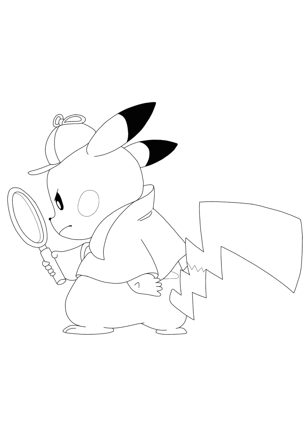 Detective Pikachu Coloring Pages - 6 Free Coloring Sheets (6060