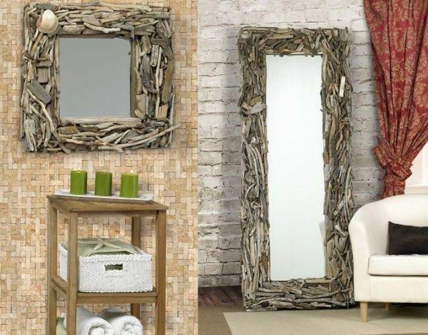 inspirant miroir mural en bois Décoration fran§aise