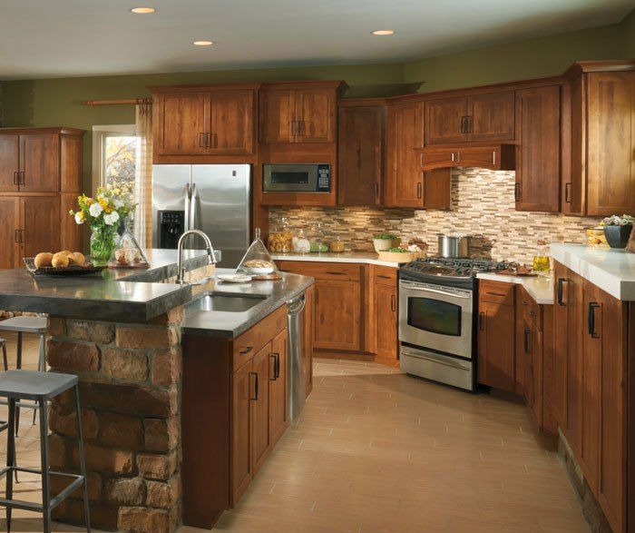 birch kitchen cabinets aristokraft cabinetry kitchens birch cabinets ...