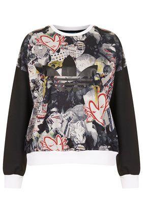 **Print Sweatshirt by Topshop x adidas Originals