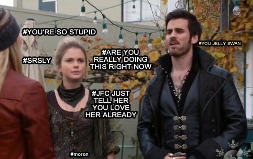 You jelly swan is the best! #lol #captainswan #onceuponatime #my #otp