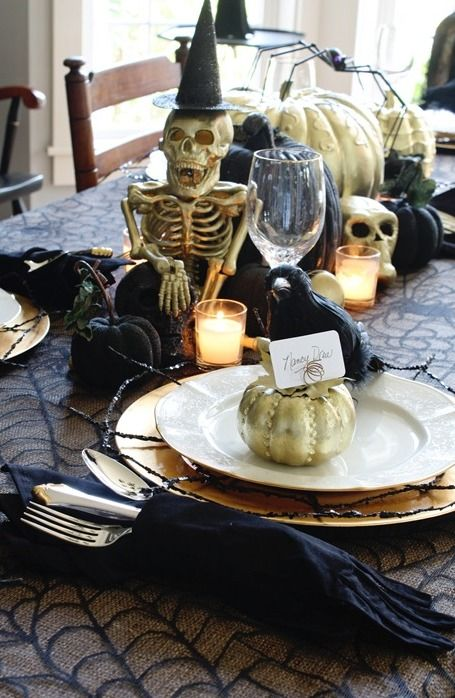 20 Best Halloween Dining Table Decoration Ideas Dining table - halloween table setting ideas