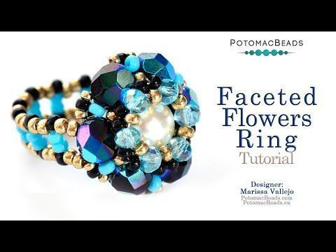 Photo of Faceted Flower Ring – DIY Jewelry Making Tutorial by PotomacBeads – – #DIY …