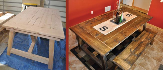 How To Build A 4 4 Farmhouse Table