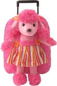 08ca2e1321 Plush Pink Poodle Rolling Backpack with Removable Wheels