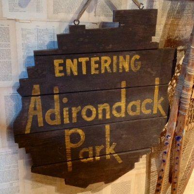 Tables · Adirondack Park Sign. Dart Brook Rustic Goods, Keene, NY.