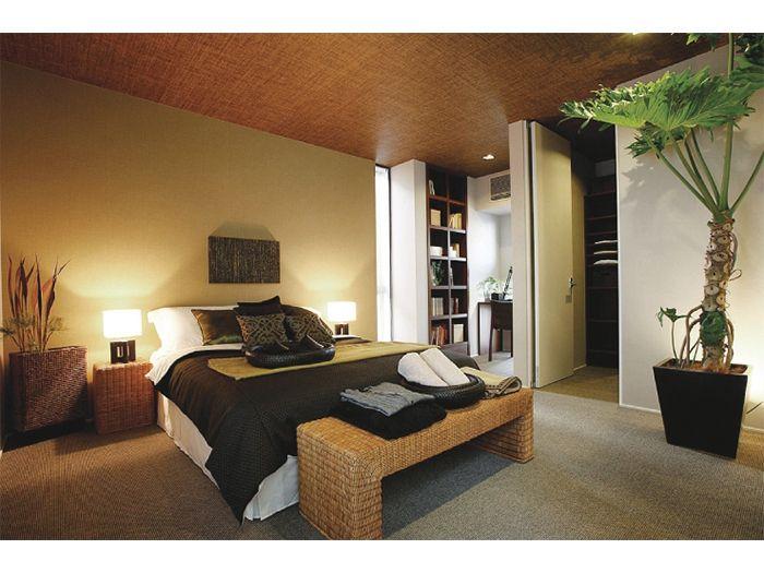 寝室 板張り天井 イメージ 寝室 インテリアアイデア インテリア
