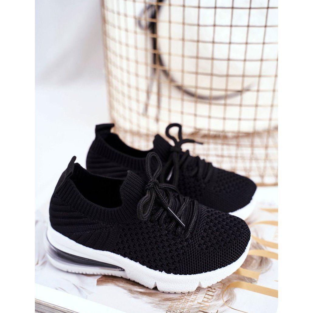 Frrock Obuwie Sportowe Dzieciece Sznurowane Czarne Lena Sneakers Nike Baby Shoes Shoes