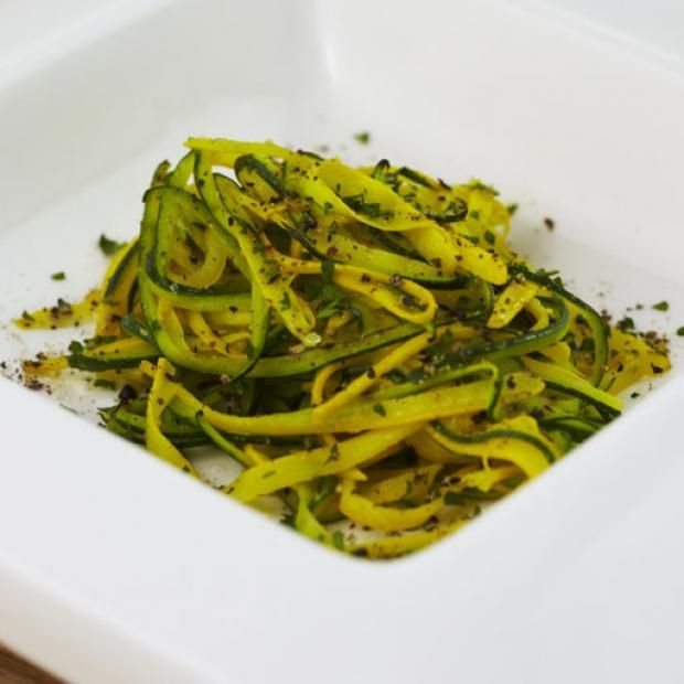 receta Hilos de zucchini al vapor