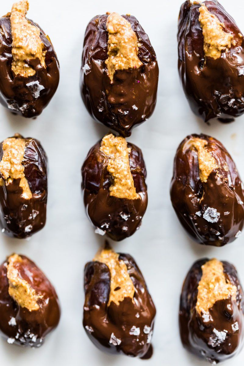 Almond Butter Chocolate Covered Dates