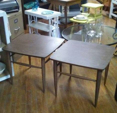 Pair Of Mid Century Modern End Tables For Sale At Frugal Fortune, Lakewood,  Ohio