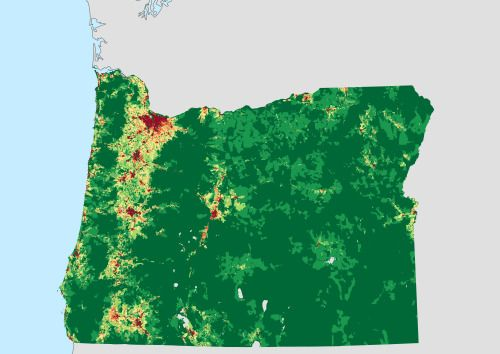Population Density of Oregon by Census Block IM THE MAP Pinterest
